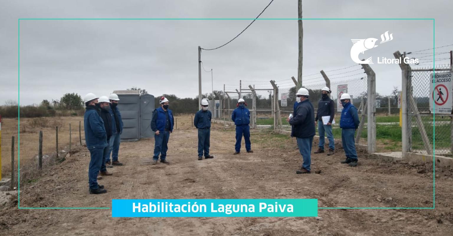 LITORAL GAS: Trabajos de ampliación de nuestra red en la localidad santafesina de Laguna Paiva