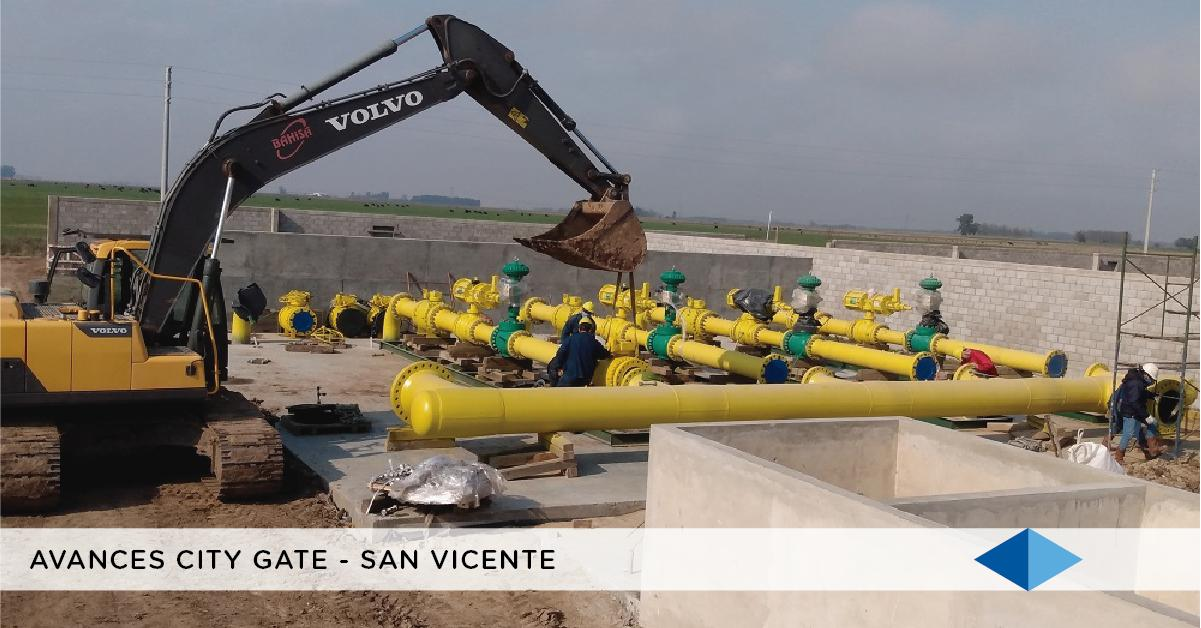 METROGAS: Avances en la City Gate de San Vicente