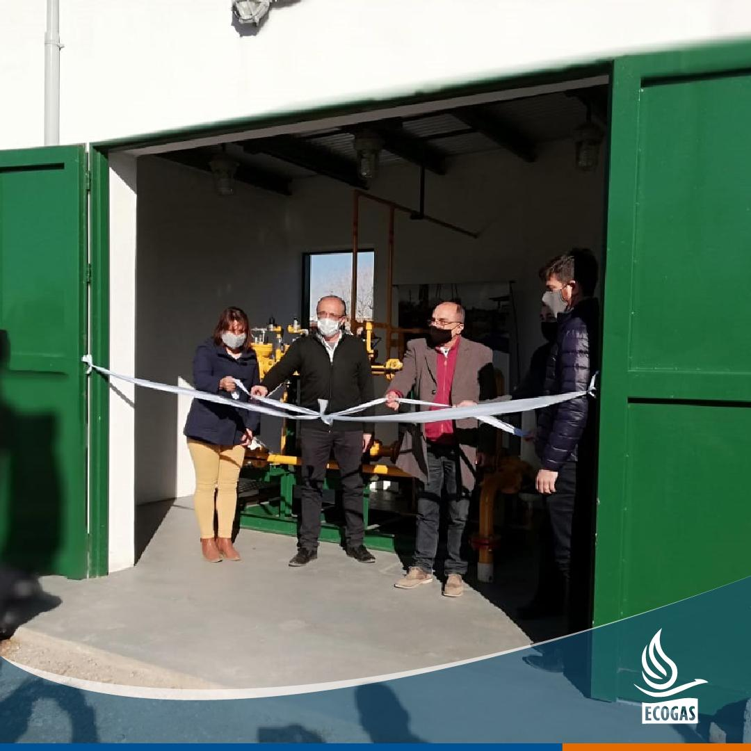ECOGAS: Junto al Ministerio de Servicios Públicos de Córdoba en la inauguración de la planta reductora de presión de gas en la localidad de Ballesteros Sud