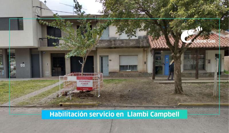 LITORAL GAS: Ampliación de la red, habilitando el servicio de gas en la Comuna de Llambi Campbell, provincia de Santa Fe