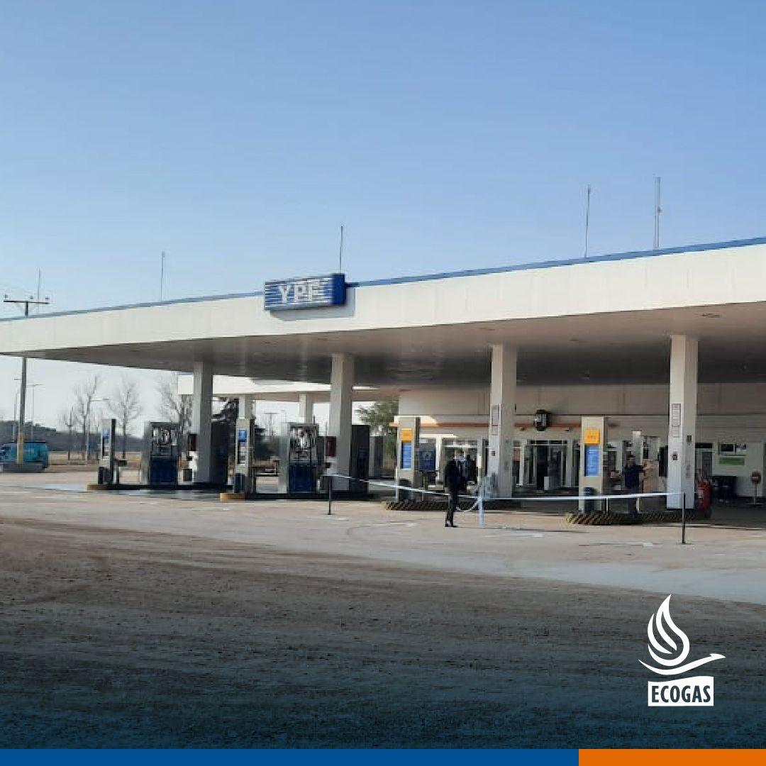 ECOGAS: Acompañando a la firma Osvaldo Fantini & Cía SRL en la habilitación del servicio de expendio de GNC en su estación de servicio YPF de la localidad de La Puerta, Córdoba.