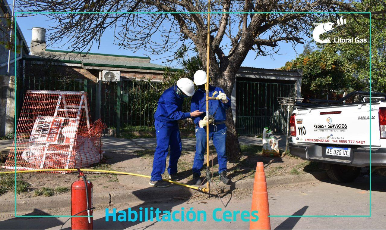 LITORAL GAS: Amplió su red, El Gas Natural llegó a Ceres, Provincia de Santa Fe.