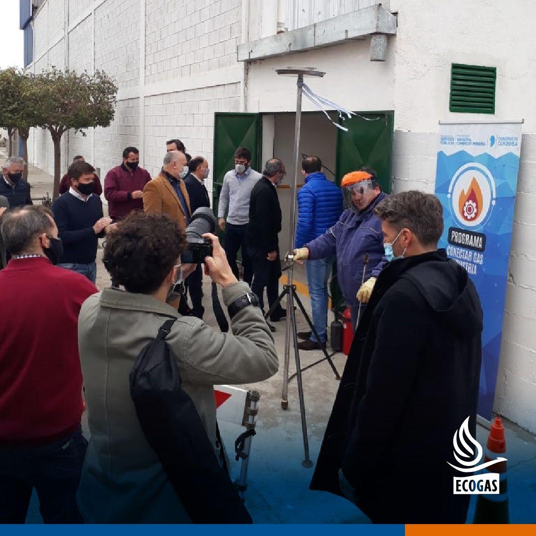 ECOGAS: habilitó la conexión al gas natural de la empresa Grupo Ckoos S.R.L. en su planta de Villa Ascasubi, Córdoba