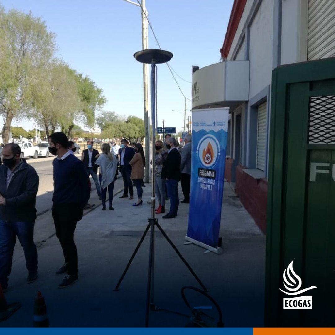ECOGAS: Junto al Ministerio de Industria de la Provincia de Córdoba acompañando a Bel Davi SRL en la habilitación del gas natural en la localidad de Tancacha.