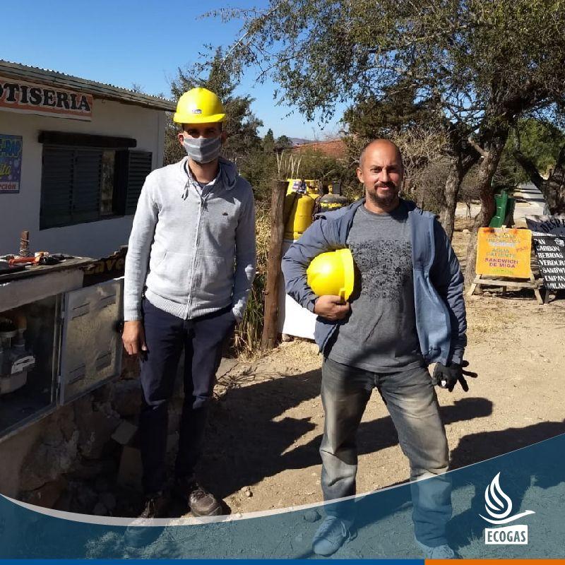 ECOGAS: habilitó la ampliación de la red de gas natural de Calabango, Provincia de Córdoba.