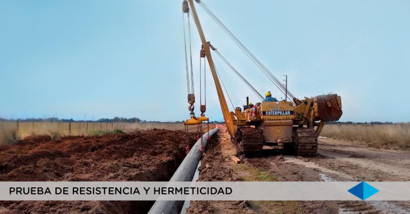 METROGAS: Continúan con los avances en la obra Segundo Anillo Sur, San Vicente provincia de Buenos Aires