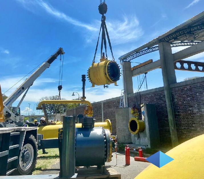 METROGAS: Cambio de válvulas de fuego en la ERP Amalia Figueredo en el Aeroparque Metropolitano Jorge Newbery