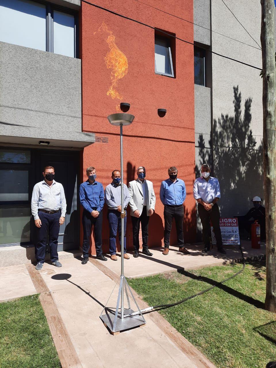 LITORAL GAS: inauguró la red de gas natural en San Justo, provincia de Santa Fe con un tendido de 41,75 kilómetros