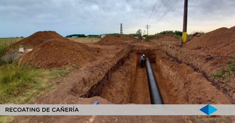 METROGAS, inspeccionando el recoating del tramo V en la interferencia con la traza de la futura Autopista Presidente Perón (Continuación del Camino del Buen Ayre)