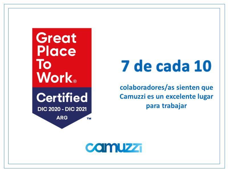 CAMUZZI es la primera distribuidora de energía en obtener la Certificación™ de Great Place to Work®